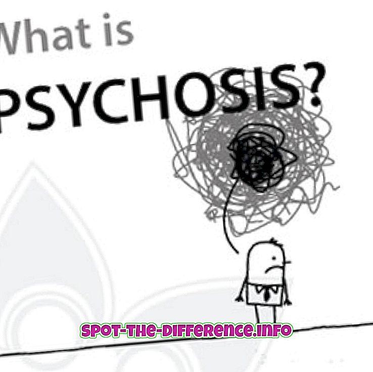 Forskjellen mellom demens og psykose