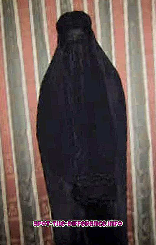 ความแตกต่างระหว่าง: ความแตกต่างระหว่าง Niqab และ Burqa