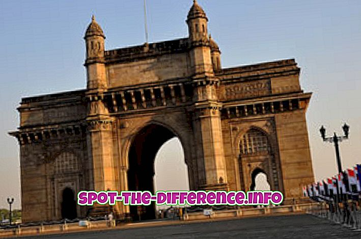 verschil tussen: Verschil tussen India Gate en Gateway of India