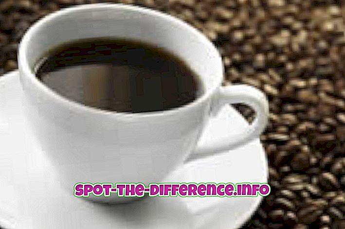 rozdiel medzi: Rozdiel medzi kávou a čajom