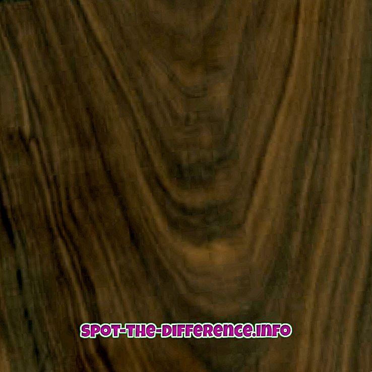 différence entre: Différence entre le noyer et le bois de cerisier