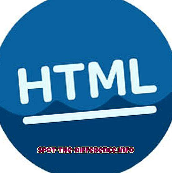 forskjell mellom: Forskjellen mellom HTML og tekst
