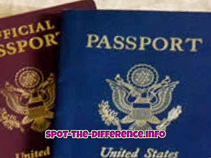 Sự khác biệt giữa Visa và Hộ chiếu