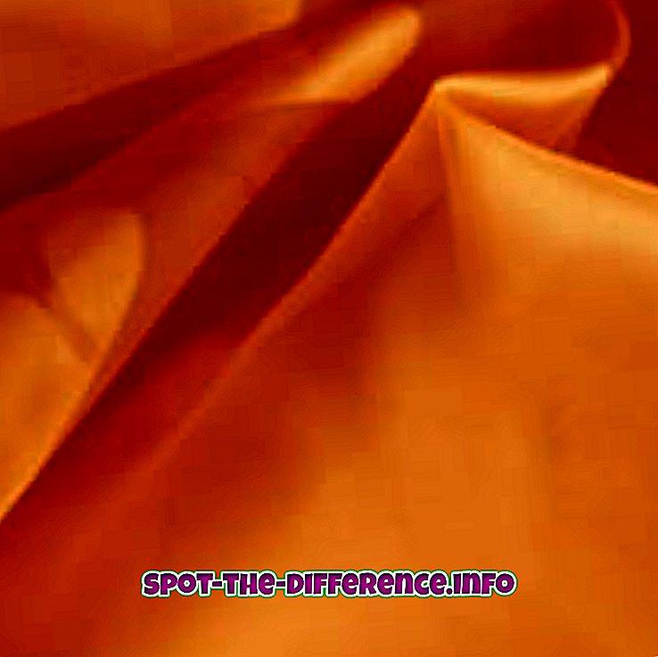 vahe: Silki ja satiini erinevus