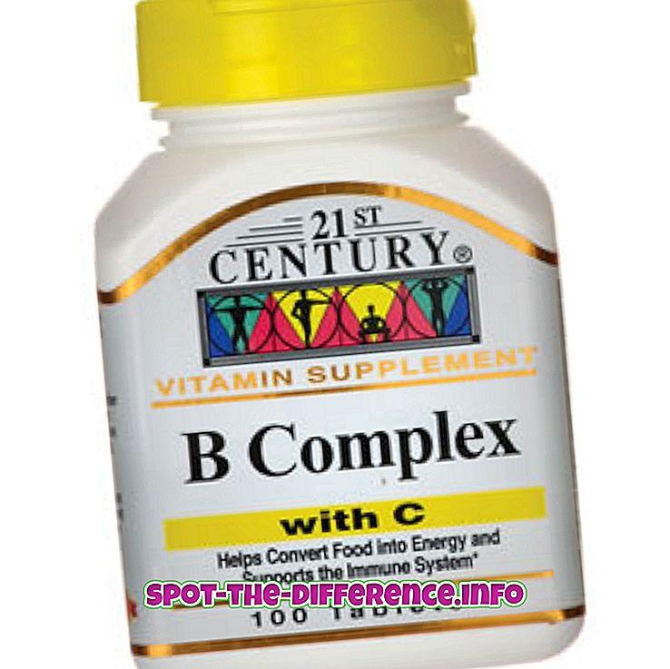 ero: B-kompleksin ja B12: n välinen ero