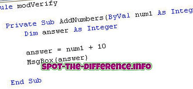 ero: Moduulin ja luokan välinen ero