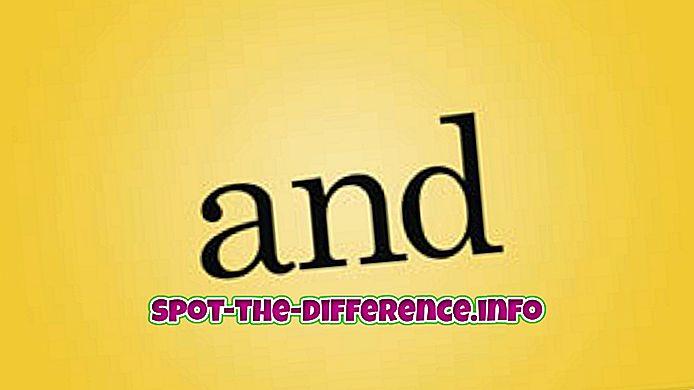 Διαφορά μεταξύ Και και Ορ