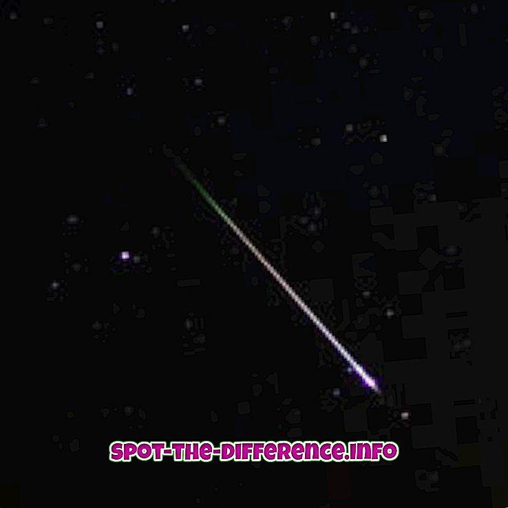 verschil tussen: Verschil tussen Meteor en Meteoroid