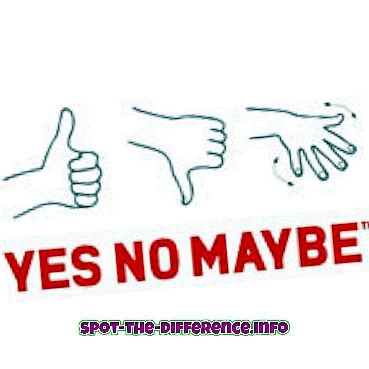 forskjell mellom: Forskjellen mellom kanskje og kanskje