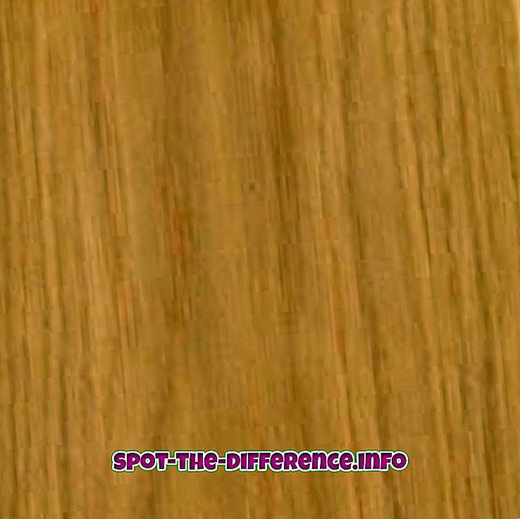 rozdíl mezi: Rozdíl mezi dubem a popelkou