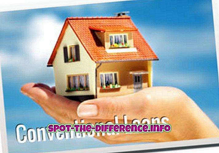 forskjell mellom: Forskjellen mellom FHA og konvensjonelle lån