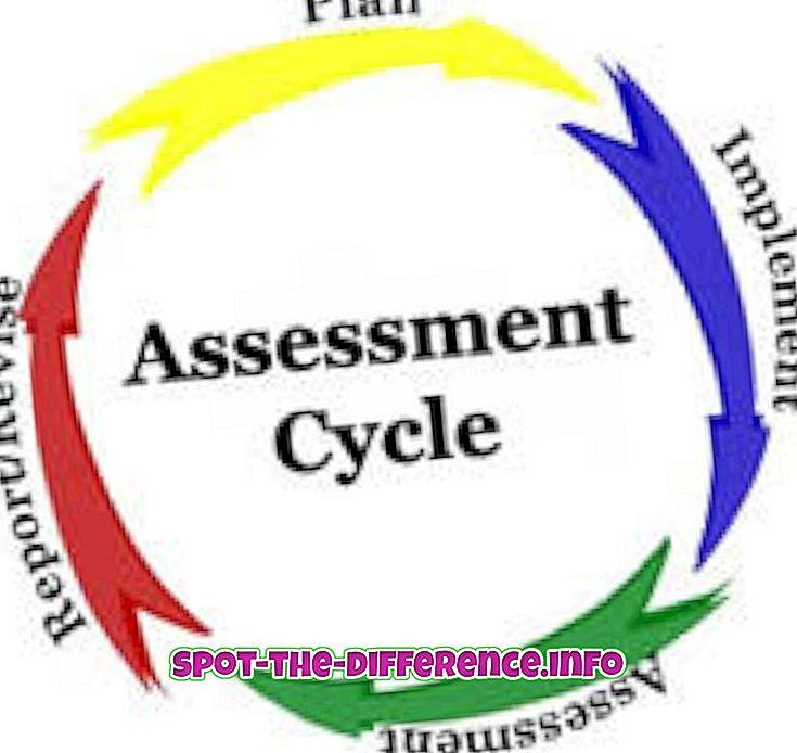 rozdiel medzi: Rozdiel medzi hodnotením a testovaním