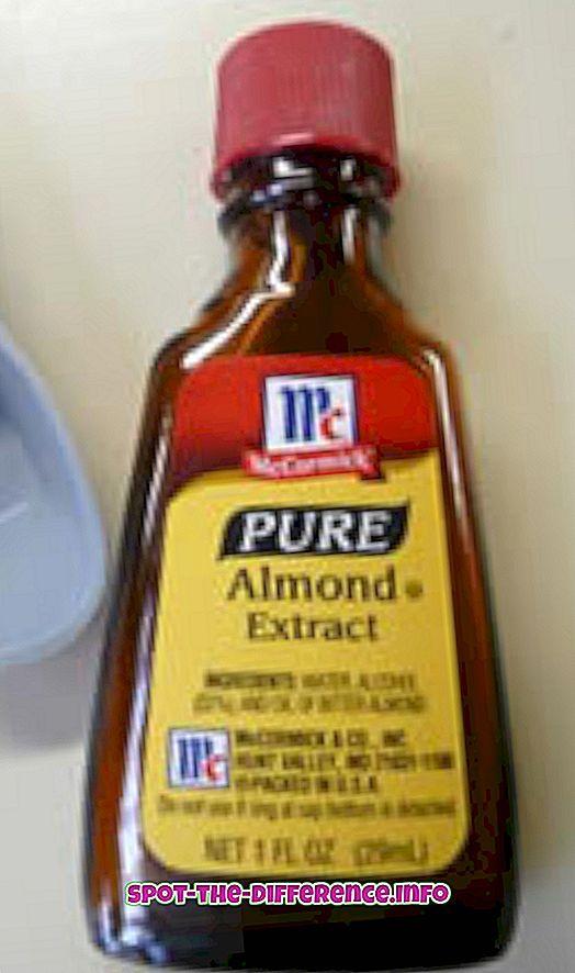 différence entre: Différence entre l'essence d'amande et l'extrait d'amande