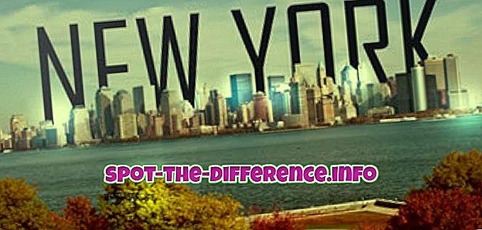 sự khác biệt giữa: Sự khác biệt giữa New York và Newark