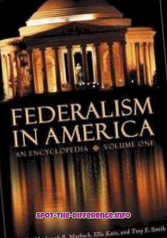 Rozdiel medzi federálnym a národným