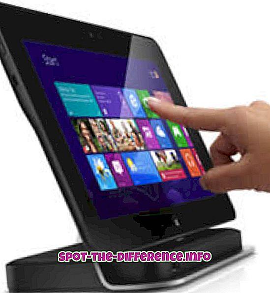 rozdiel medzi: Rozdiel medzi tabletom Dell Latitude 10 Windows a Asus Padfone Infinity