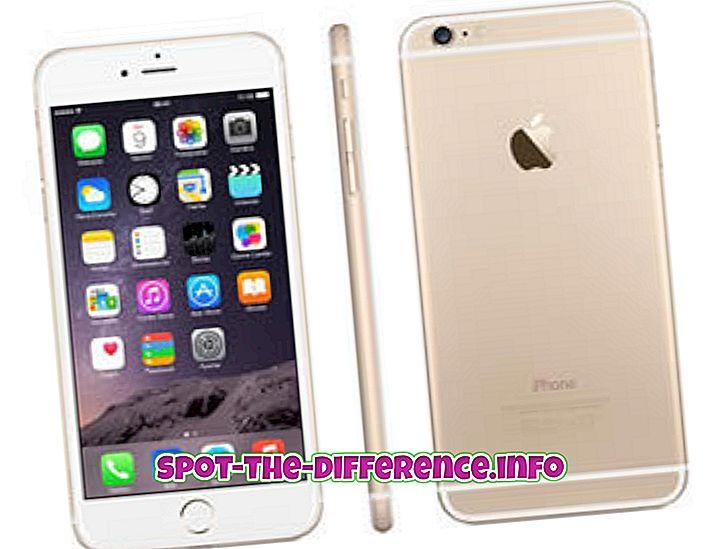 perbedaan antara: Perbedaan antara iPhone 6S dan Samsung Galaxy S6
