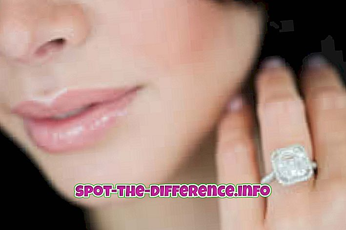 rozdiel medzi: Rozdiel medzi krúžkom a prstom