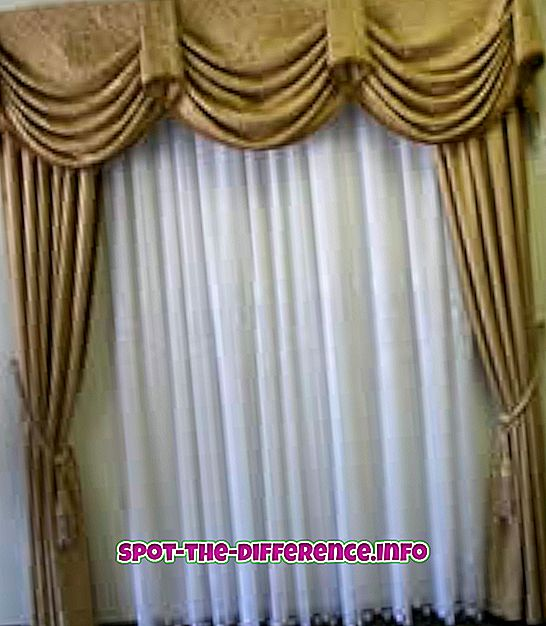 différence entre: Différence entre les rideaux et les rideaux