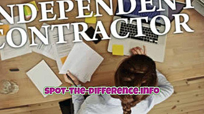 rozdíl mezi: Rozdíl mezi Freelancer a nezávislým dodavatelem