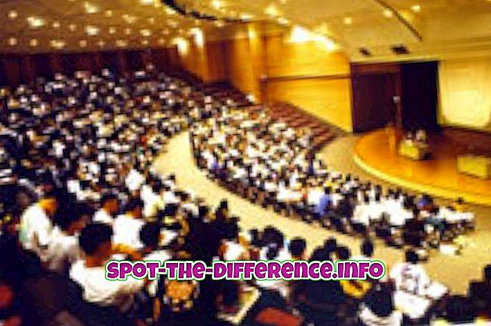 Différence entre séminaire et conférence