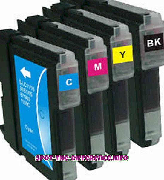 разлика между: Разлика между мастилените и тонер касетите