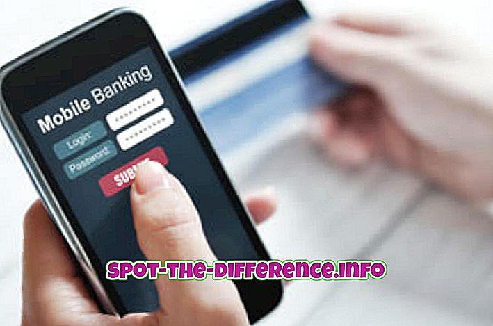 rozdiel medzi: Rozdiel medzi mobilným a internetovým bankovníctvom