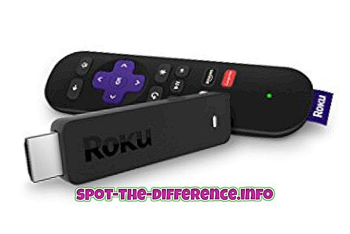 vahe: Roku Stick ja Chromecast erinevus