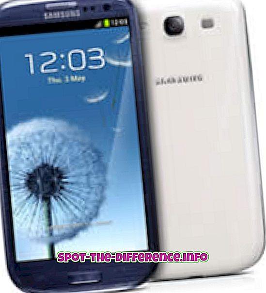 Διαφορά μεταξύ Samsung Galaxy S3 και Samsung Galaxy S4