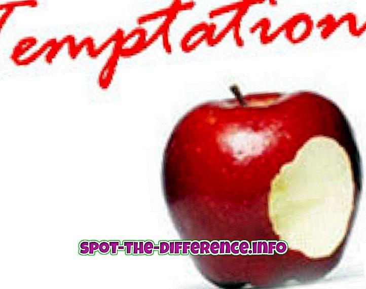 différence entre: Différence entre la tentation et la séduction