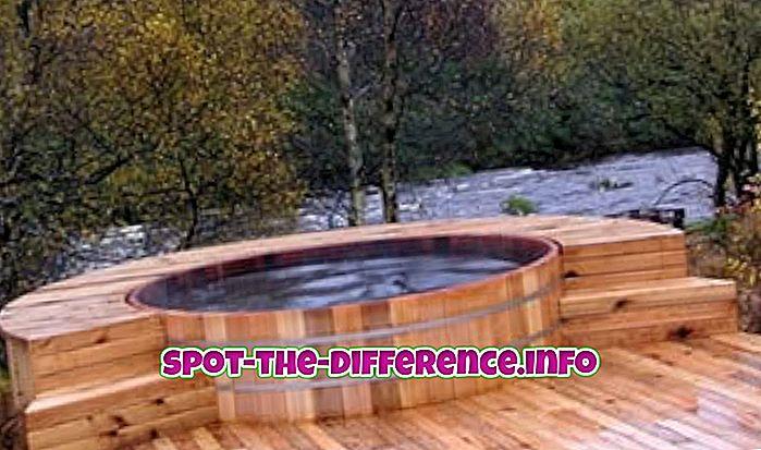 a különbség köztük: Különbség a pezsgőfürdő és a jakuzzi között
