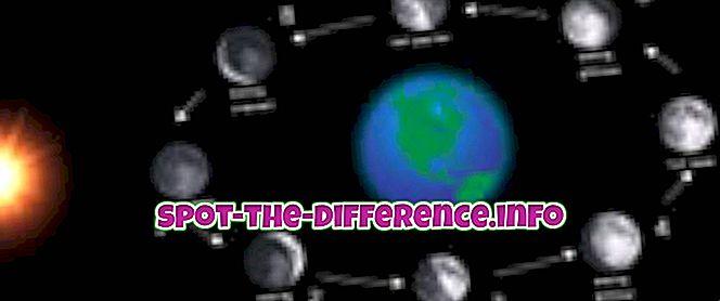 Diferencia entre luna llena y luna nueva