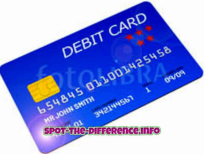 atšķirība starp: Atšķirība starp debetkarti un kredītkarti