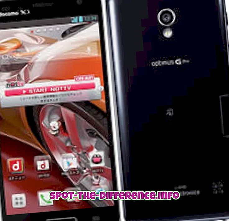 vahe: Erinevus LG Optimus G Pro ja Sony Xperia Z vahel