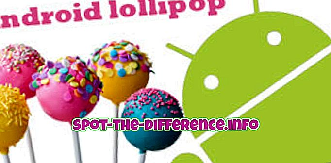 Android Lollipopin ja Apple iOS 8: n välinen ero