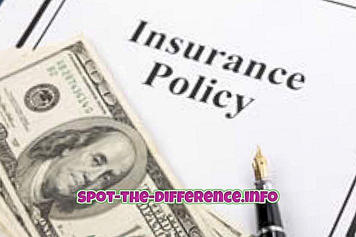perbedaan antara: Perbedaan antara Asuransi dan Jaminan