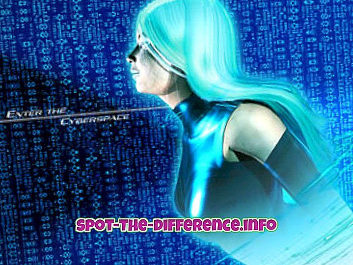 Unterschied zwischen: Unterschied zwischen Cyberspace und Internet