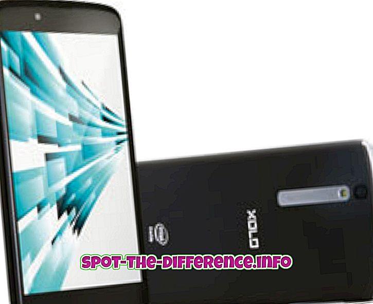 Erinevus XOLO X1000 ja Samsung Galaxy Grand vahel
