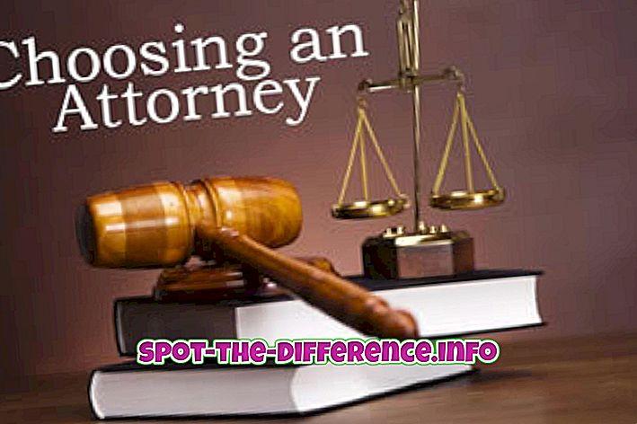 Razlika između odvjetnika i odvjetnika