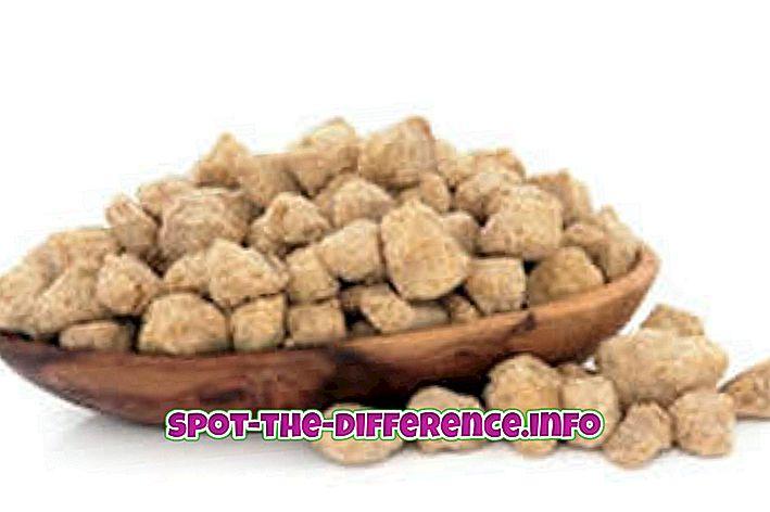 Unterschied zwischen Soja-Brocken und Soja-Granulat
