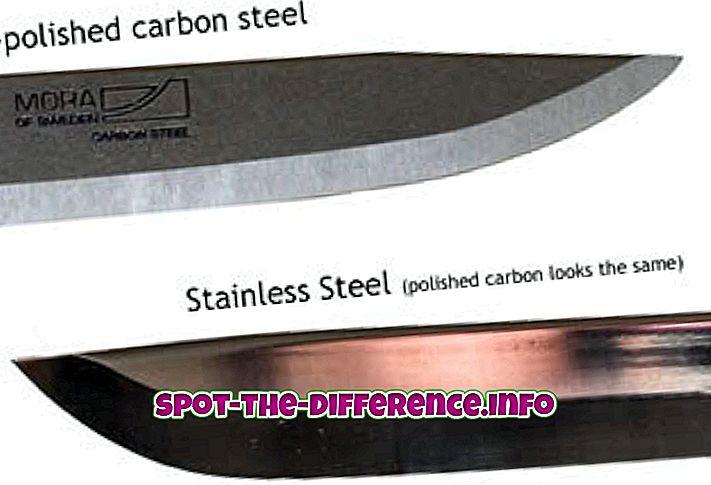 diferença entre: Diferença entre aço inoxidável e aço suave