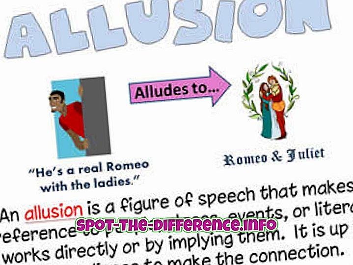 perbedaan antara: Perbedaan antara Allusion dan Illusion