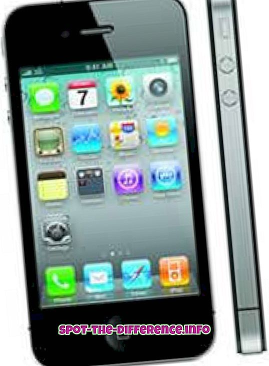 vahe: Erinevus iPhone 4 ja iPhone 4S vahel