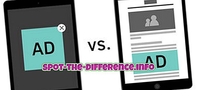 Unterschied zwischen: Unterschied zwischen gesponsertem Inhalt und nativen Anzeigen