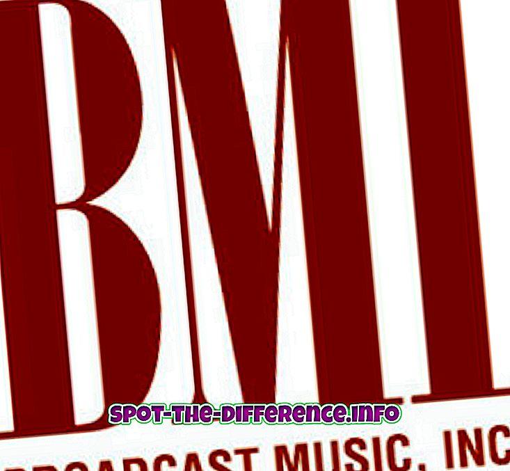 Unterschied zwischen BMI, ASCAP und SESAC