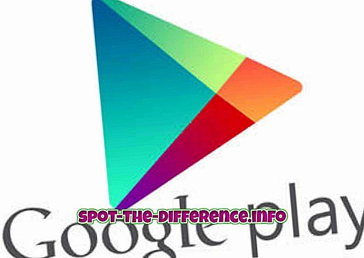ero: Google Play Storen ja Applen App Storen välinen ero