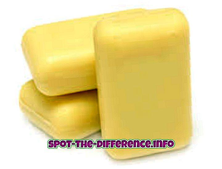 rozdiel medzi: Rozdiel medzi tekutým mydlom a mydlom baru