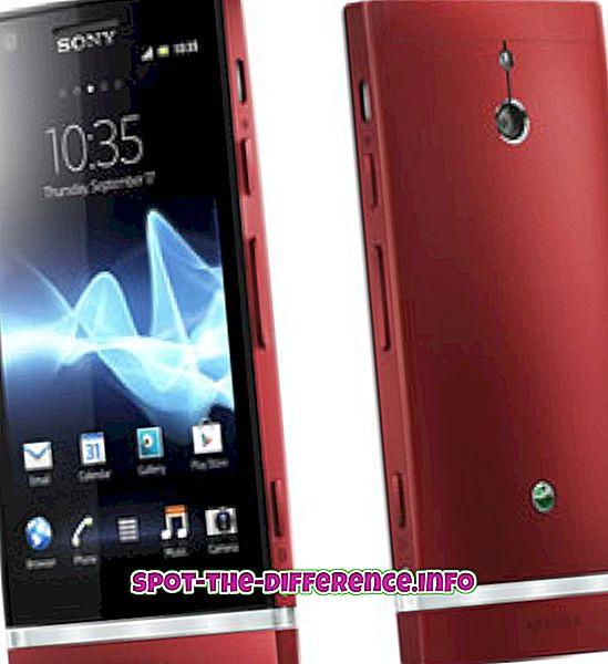 ความแตกต่างระหว่าง Sony Xperia P และ Nokia Lumia 720