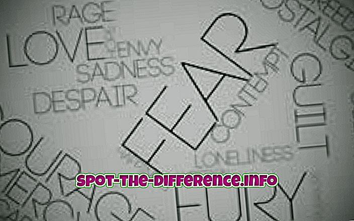 perbedaan antara: Perbedaan antara Perasaan dan Emosi