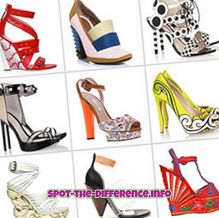 Różnica między butami i butami